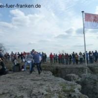 Hissen Frankenfahne Staffelberg 9Apr2016_3